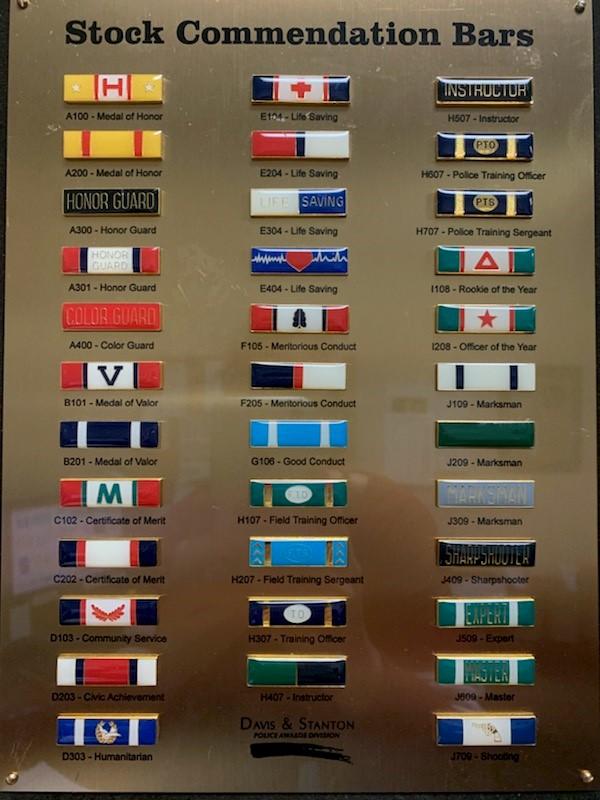 Fire Service Commendation Bars